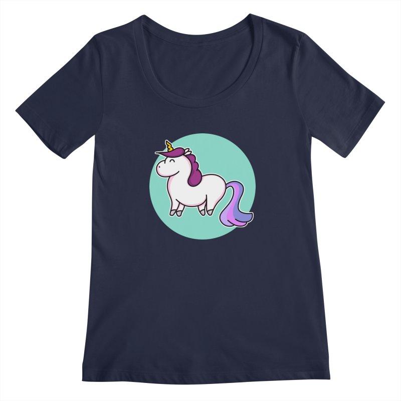 Cute Unicorn Women's Scoopneck by Flaming Imp's Artist Shop