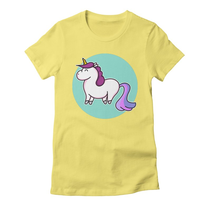 Cute Unicorn Women's Fitted T-Shirt by Flaming Imp's Artist Shop