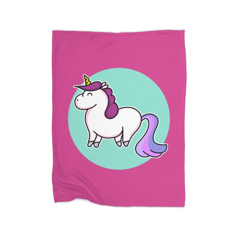 Cute Unicorn Home Blanket by Flaming Imp's Artist Shop