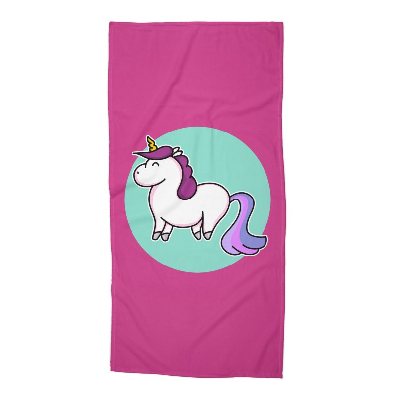 Cute Unicorn Accessories Beach Towel by Flaming Imp's Artist Shop