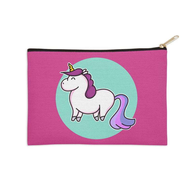 Cute Unicorn Accessories Zip Pouch by Flaming Imp's Artist Shop