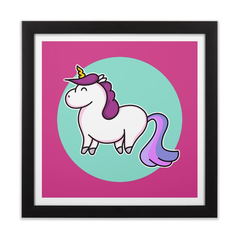 Cute Unicorn Home Framed Fine Art Print by Flaming Imp's Artist Shop