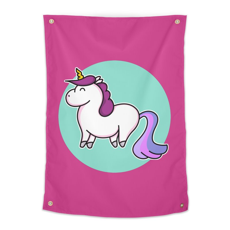 Cute Unicorn Home Tapestry by Flaming Imp's Artist Shop