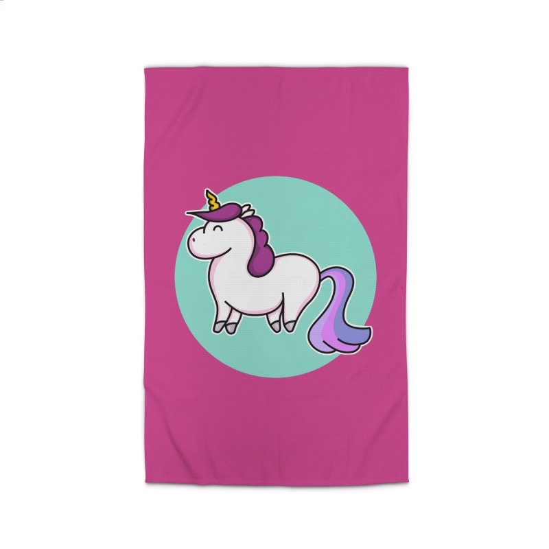 Cute Unicorn Home Rug by Flaming Imp's Artist Shop
