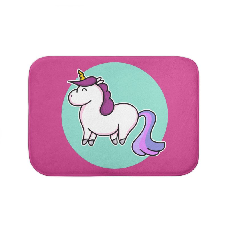 Cute Unicorn Home Bath Mat by Flaming Imp's Artist Shop