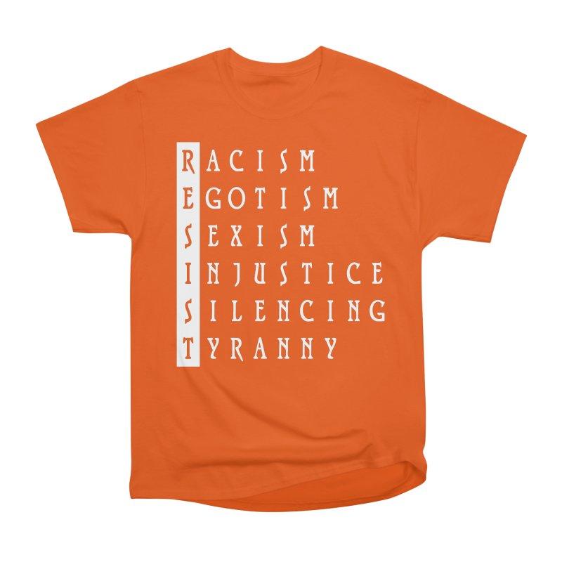 Resist Women's Classic Unisex T-Shirt by Flaming Imp's Artist Shop
