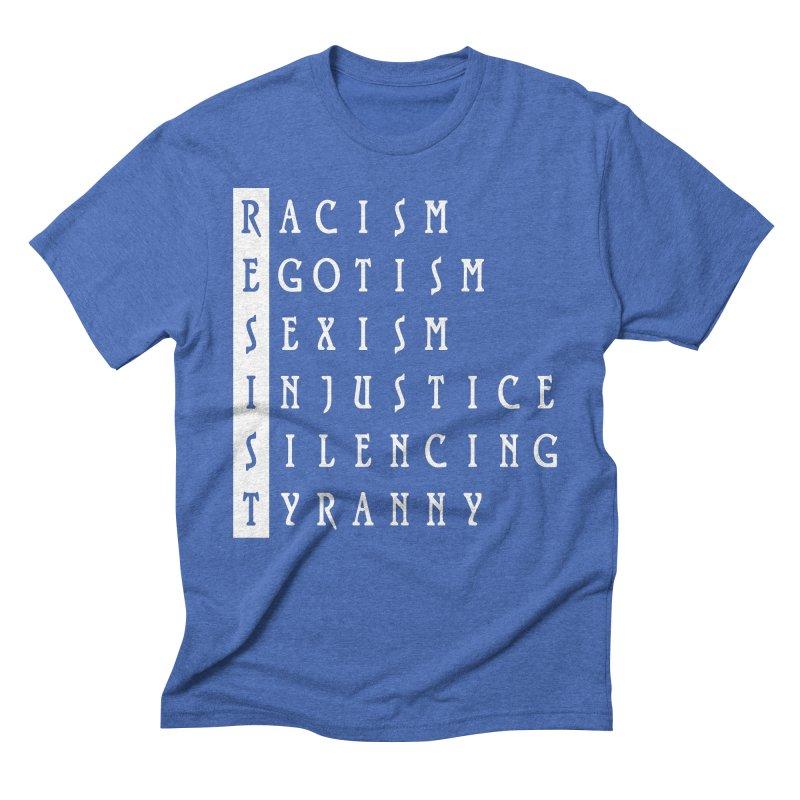 Resist Men's Triblend T-Shirt by Flaming Imp's Artist Shop