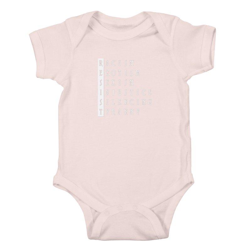 Resist Kids Baby Bodysuit by Flaming Imp's Artist Shop