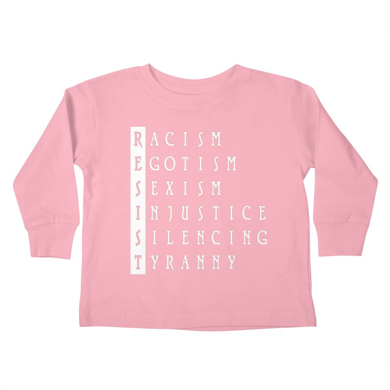 Resist Kids Toddler Longsleeve T-Shirt by Flaming Imp's Artist Shop