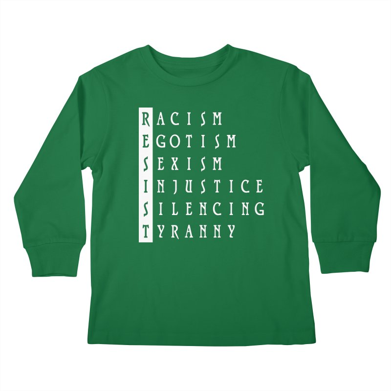 Resist Kids Longsleeve T-Shirt by Flaming Imp's Artist Shop