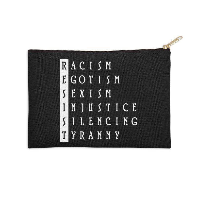Resist Accessories Zip Pouch by Flaming Imp's Artist Shop