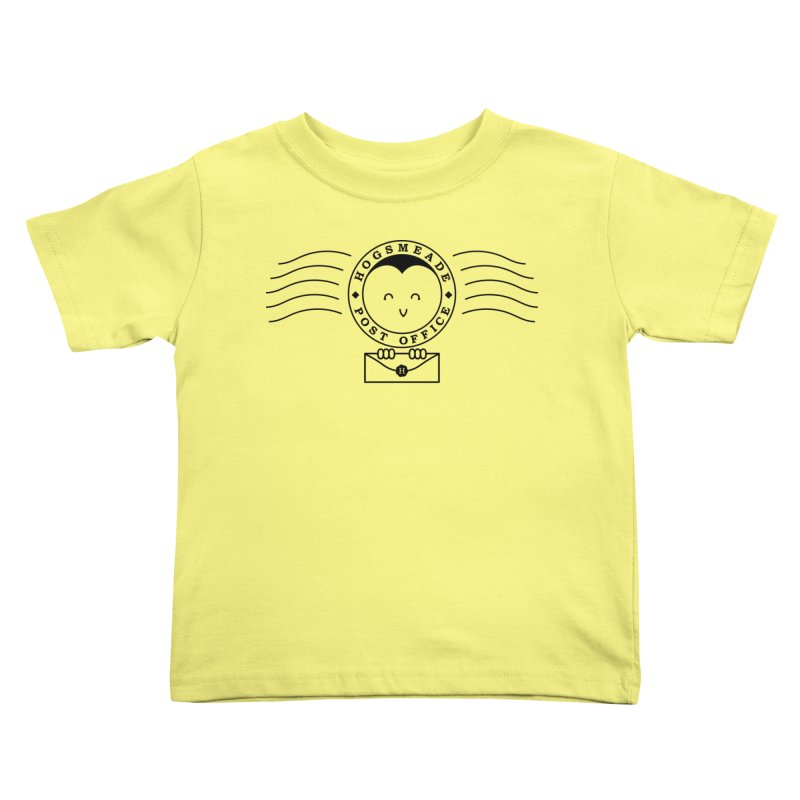 Cute Hogsmeade Post Office Stamp Kids Toddler T-Shirt by Flaming Imp's Artist Shop