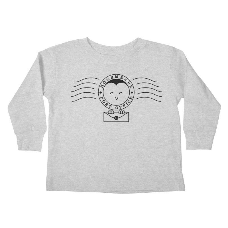 Cute Hogsmeade Post Office Stamp Kids Toddler Longsleeve T-Shirt by Flaming Imp's Artist Shop