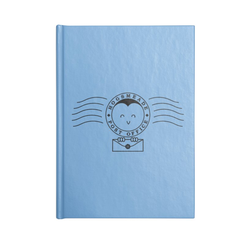 Cute Hogsmeade Post Office Stamp Accessories Notebook by Flaming Imp's Artist Shop