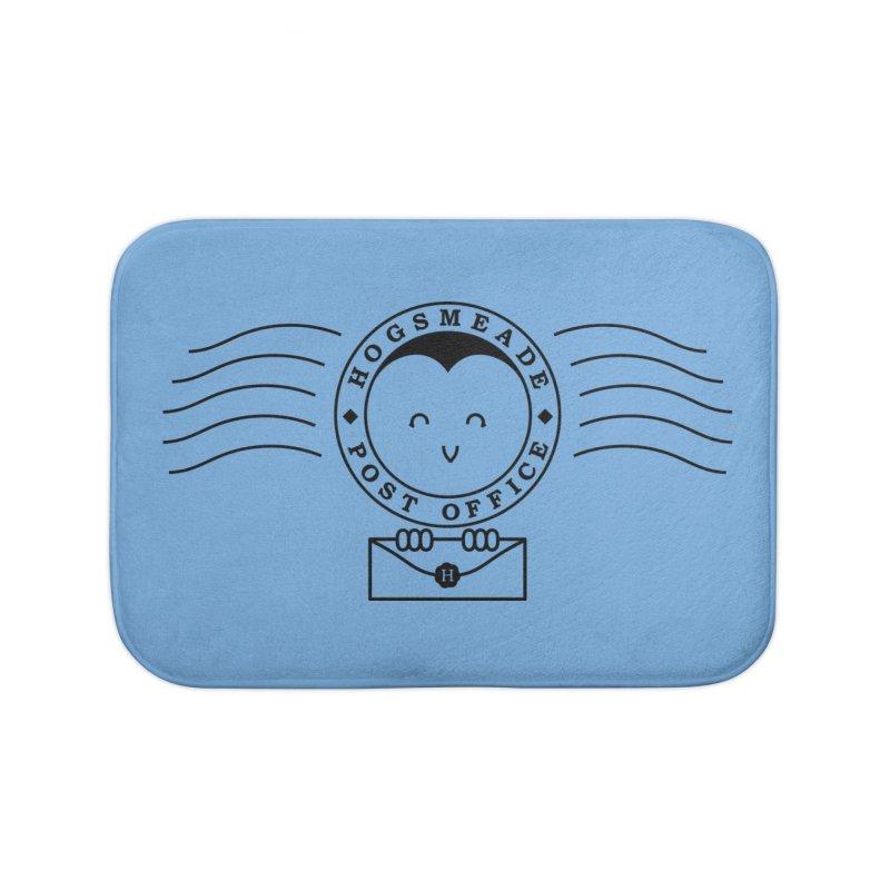 Cute Hogsmeade Post Office Stamp Home Bath Mat by Flaming Imp's Artist Shop