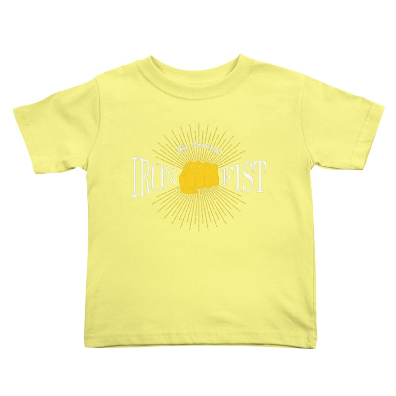 The Immortal Iron Fist Vintage Kids Toddler T-Shirt by Flaming Imp's Artist Shop