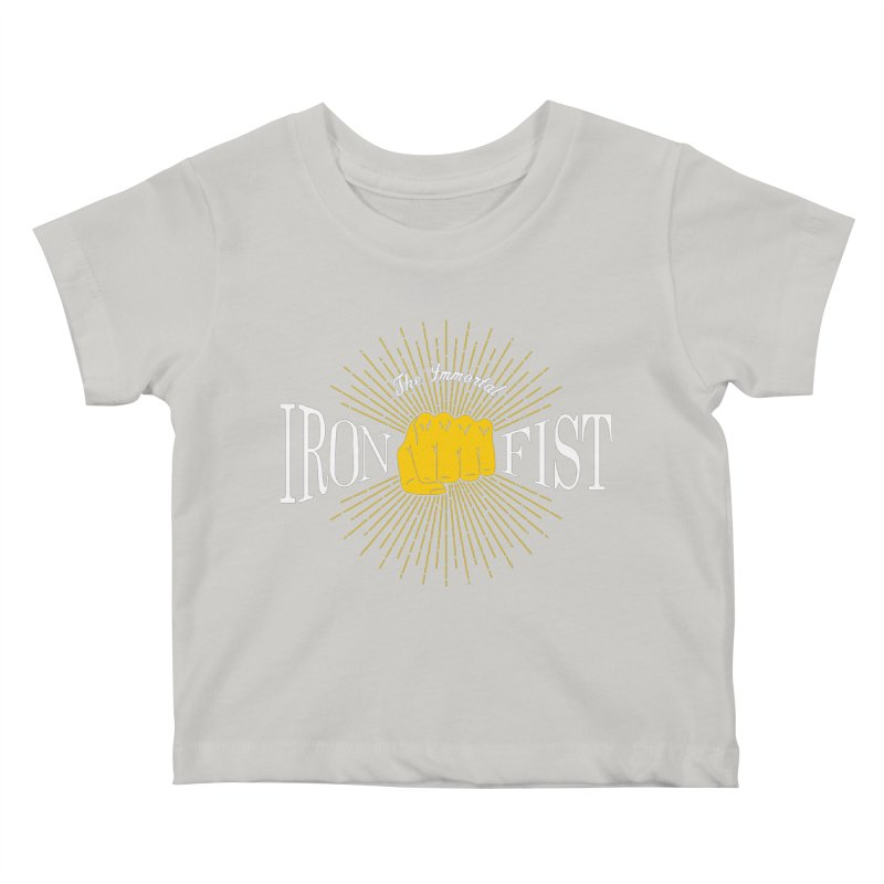 The Immortal Iron Fist Vintage Kids Baby T-Shirt by Flaming Imp's Artist Shop