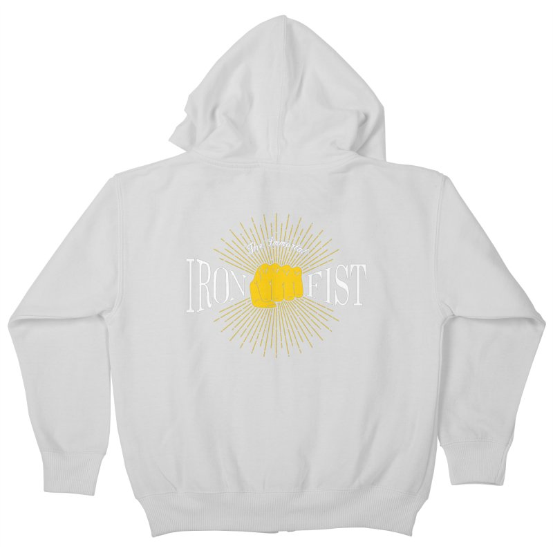 The Immortal Iron Fist Vintage Kids Zip-Up Hoody by Flaming Imp's Artist Shop