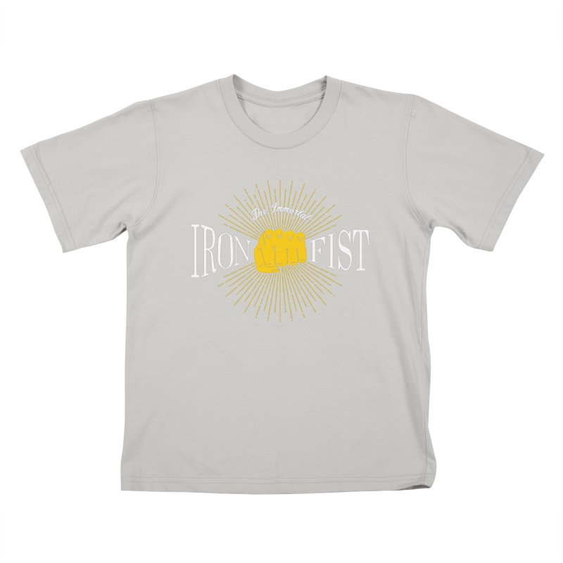 The Immortal Iron Fist Vintage Kids T-Shirt by Flaming Imp's Artist Shop