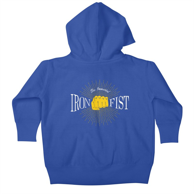 The Immortal Iron Fist Vintage Kids Baby Zip-Up Hoody by Flaming Imp's Artist Shop