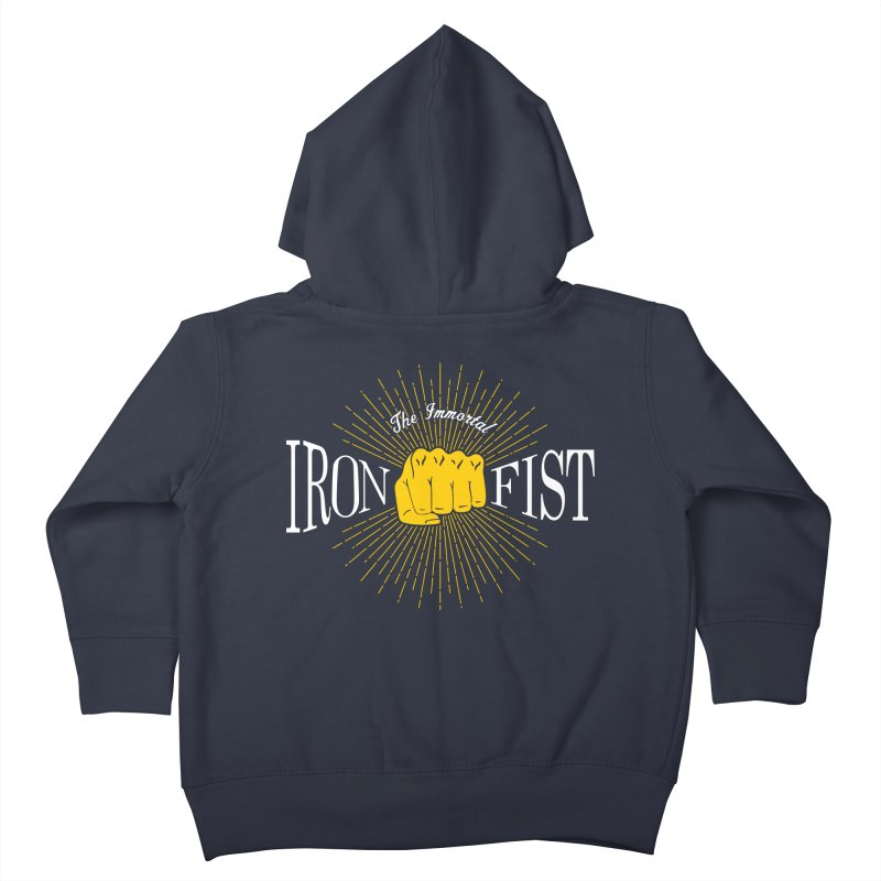 The Immortal Iron Fist Vintage Kids Toddler Zip-Up Hoody by Flaming Imp's Artist Shop