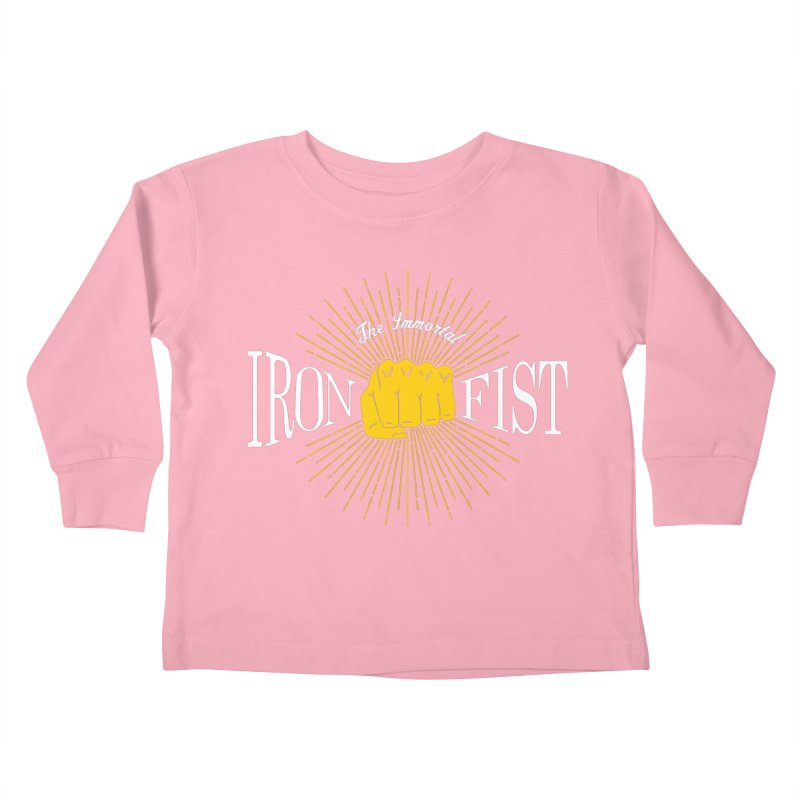 The Immortal Iron Fist Vintage Kids Toddler Longsleeve T-Shirt by Flaming Imp's Artist Shop