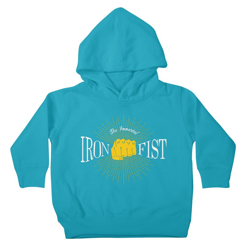 The Immortal Iron Fist Vintage Kids Toddler Pullover Hoody by Flaming Imp's Artist Shop