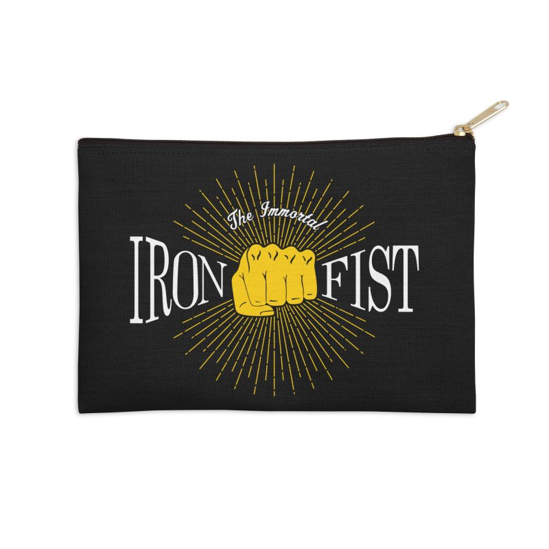 The Immortal Iron Fist Vintage Accessories Zip Pouch by Flaming Imp's Artist Shop