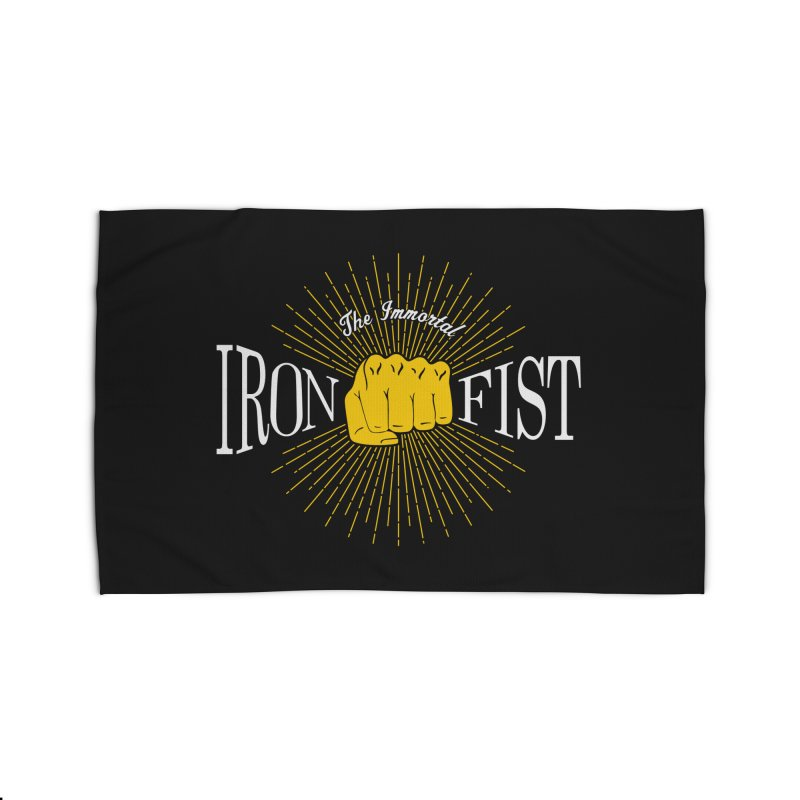 The Immortal Iron Fist Vintage Home Rug by Flaming Imp's Artist Shop