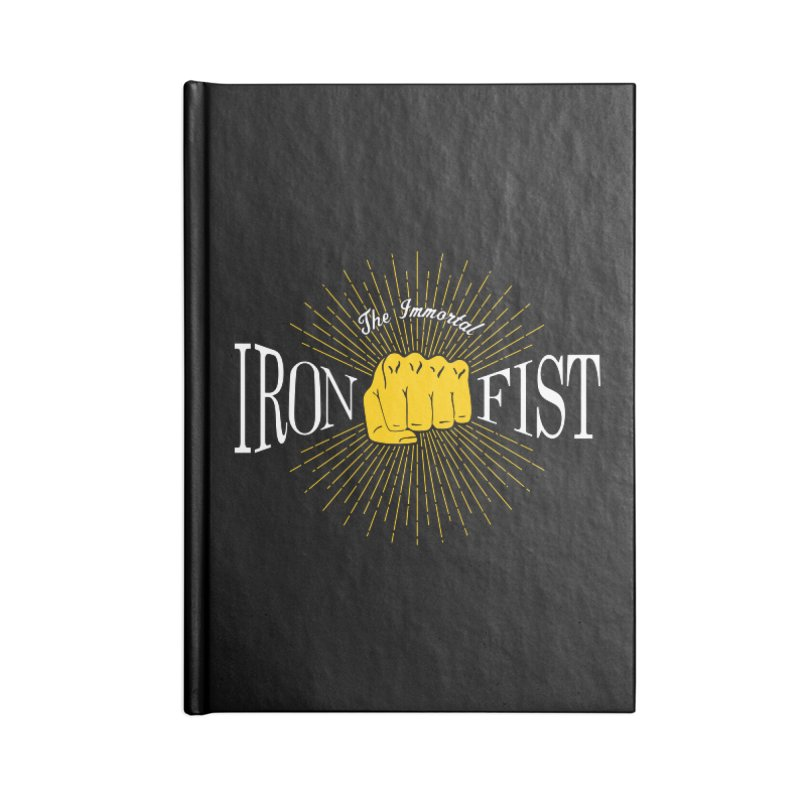 The Immortal Iron Fist Vintage Accessories Notebook by Flaming Imp's Artist Shop