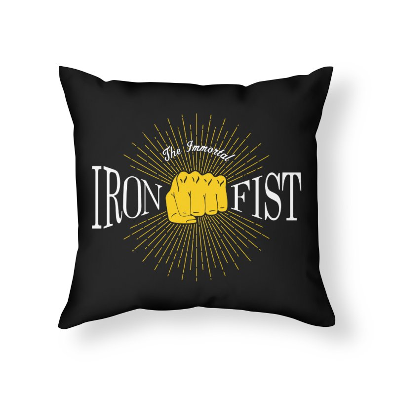 The Immortal Iron Fist Vintage Home Throw Pillow by Flaming Imp's Artist Shop