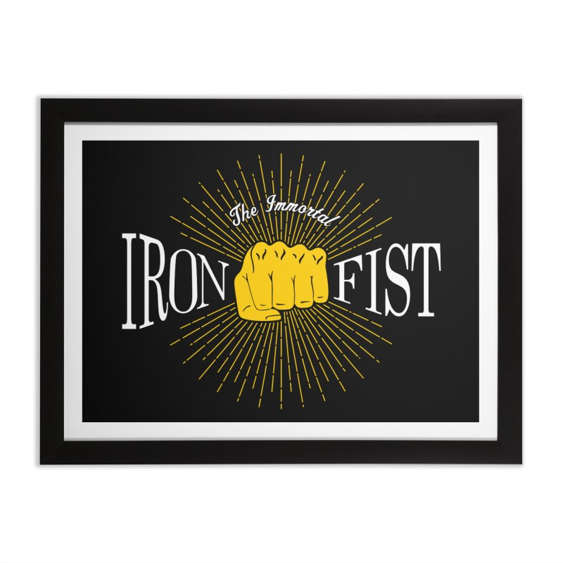 The Immortal Iron Fist Vintage Home Framed Fine Art Print by Flaming Imp's Artist Shop
