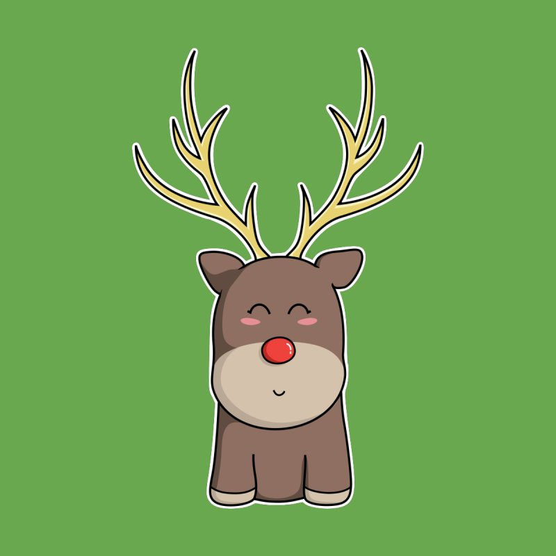 Cute Kawaii Christmas Reindeer None  by Flaming Imp's Artist Shop