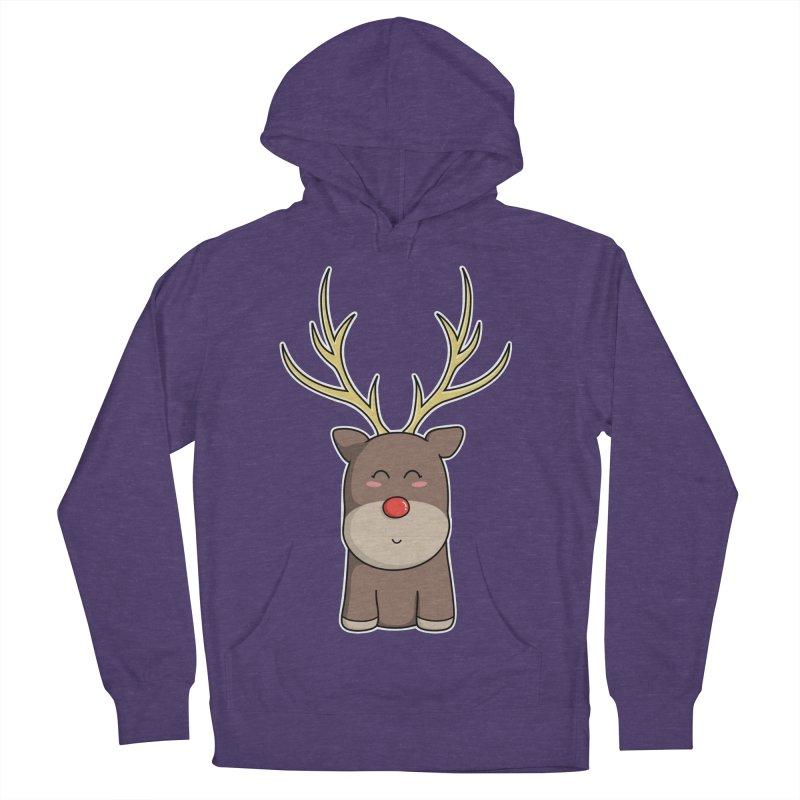 Cute Kawaii Christmas Reindeer Women's Pullover Hoody by Flaming Imp's Artist Shop