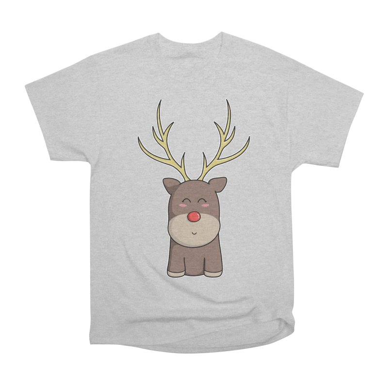 Cute Kawaii Christmas Reindeer Women's Classic Unisex T-Shirt by Flaming Imp's Artist Shop