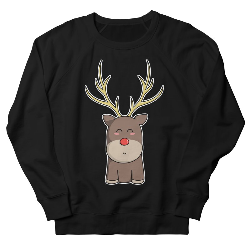 Cute Kawaii Christmas Reindeer Women's Sweatshirt by Flaming Imp's Artist Shop