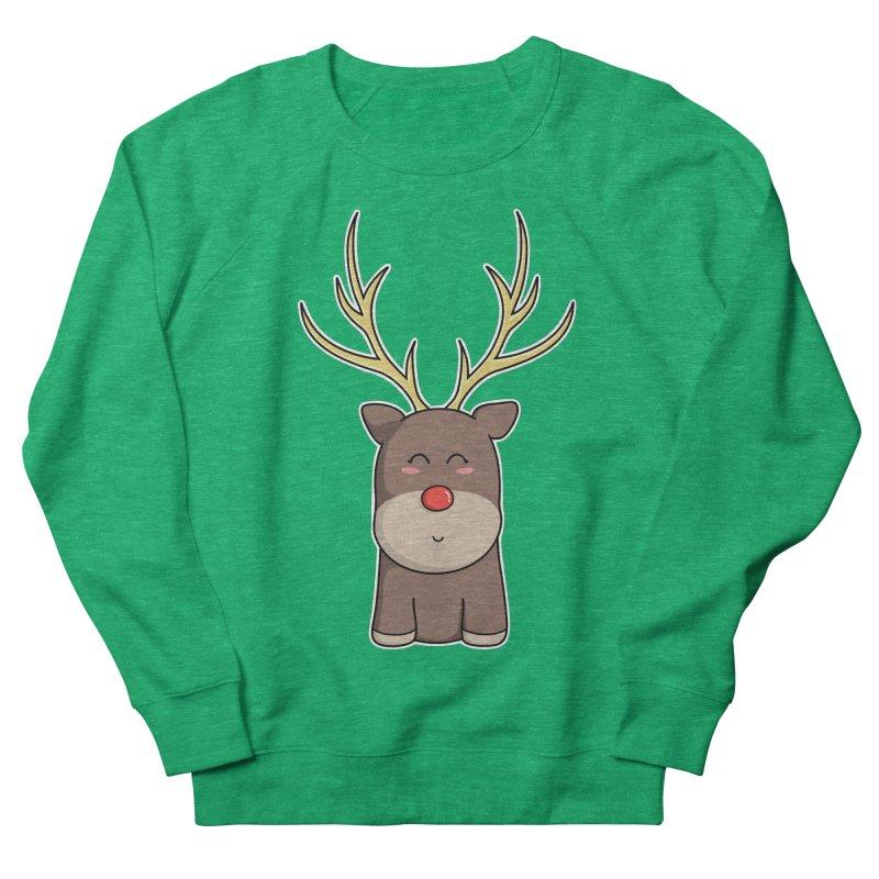 Cute Kawaii Christmas Reindeer Men's Sweatshirt by Flaming Imp's Artist Shop