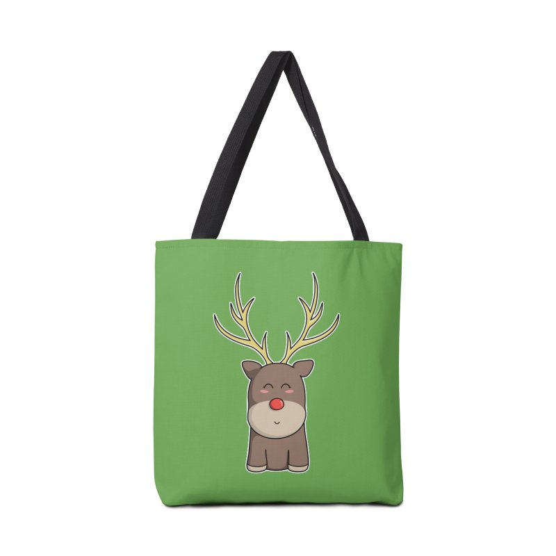 Cute Kawaii Christmas Reindeer Accessories Bag by Flaming Imp's Artist Shop