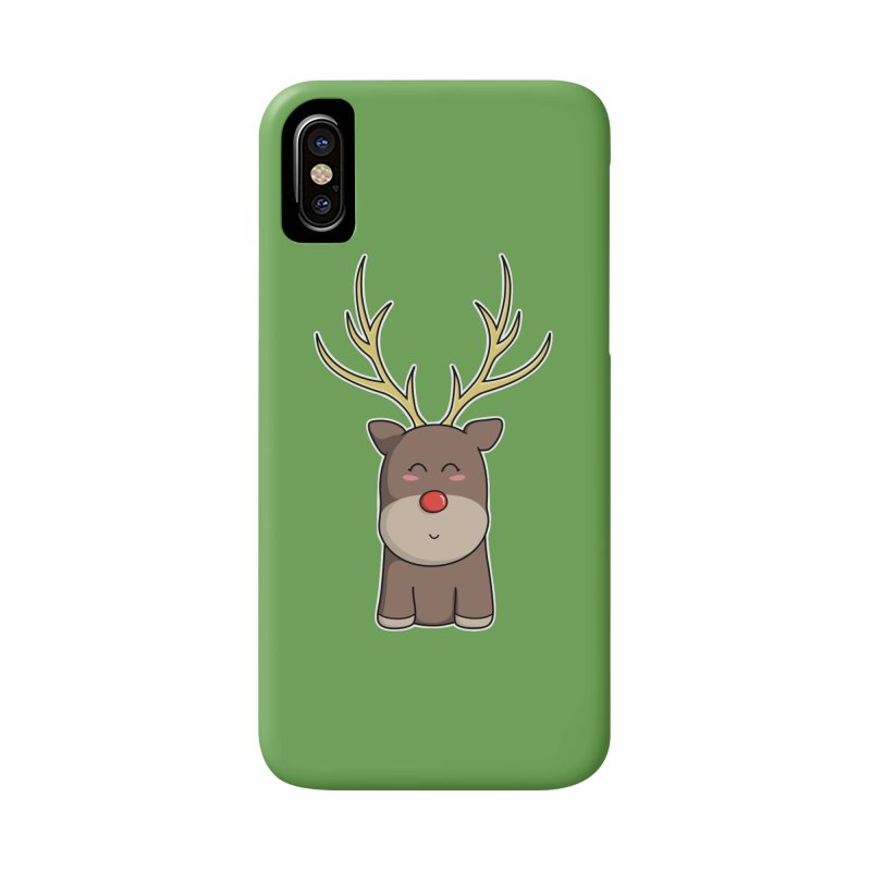 Cute Kawaii Christmas Reindeer Accessories Phone Case by Flaming Imp's Artist Shop