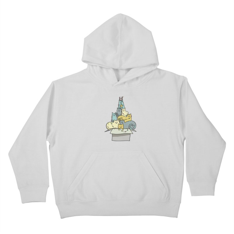 Cute Kawaii Cat Christmas Tree Kids Pullover Hoody by Flaming Imp's Artist Shop