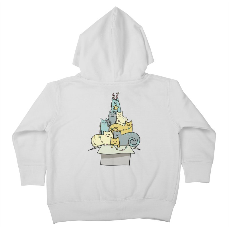 Cute Kawaii Cat Christmas Tree Kids Toddler Zip-Up Hoody by Flaming Imp's Artist Shop