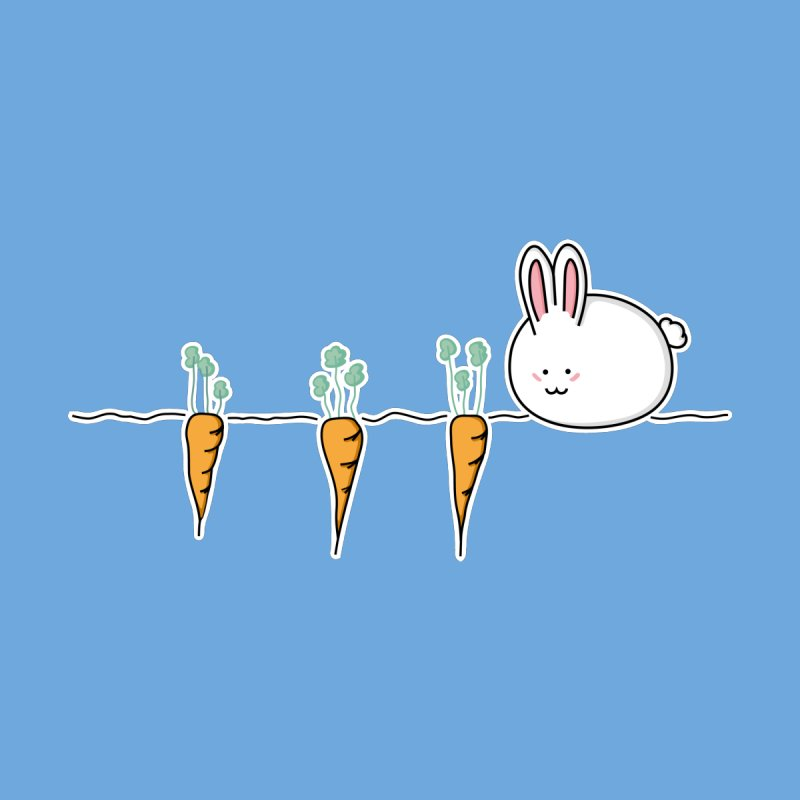 Cute Kawaii Rabbit and Carrots   by Flaming Imp's Artist Shop