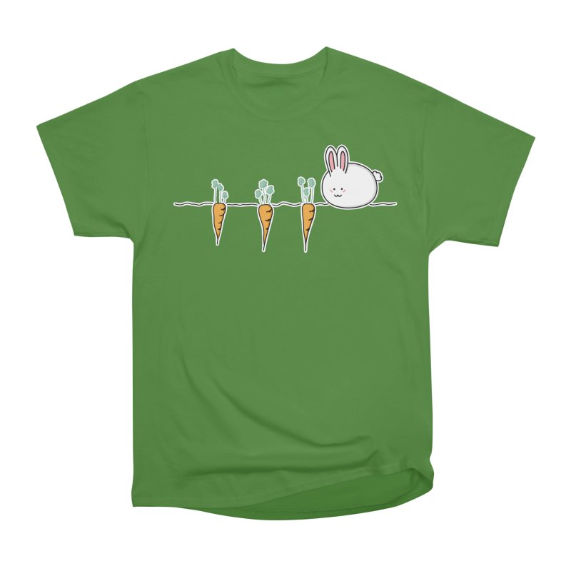 Cute Kawaii Rabbit and Carrots Men's Classic T-Shirt by Flaming Imp's Artist Shop