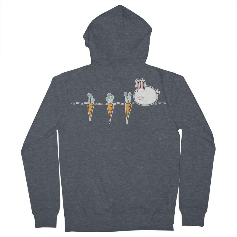 Cute Kawaii Rabbit and Carrots Women's Zip-Up Hoody by Flaming Imp's Artist Shop