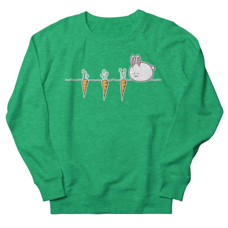 Cute Kawaii Rabbit and Carrots Men's Sweatshirt by Flaming Imp's Artist Shop