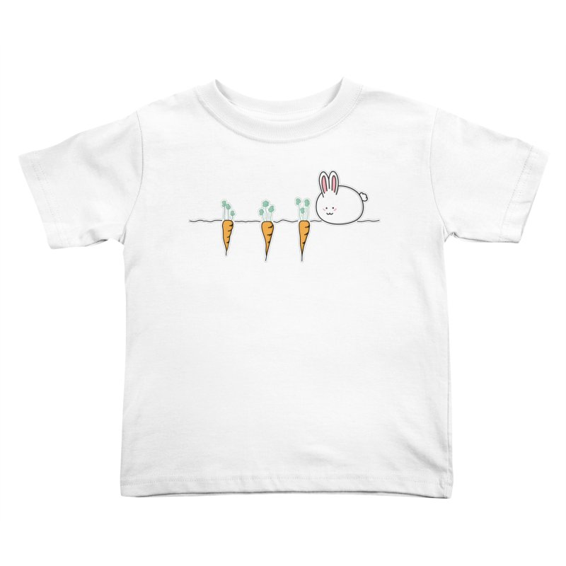 Cute Kawaii Rabbit and Carrots Kids Toddler T-Shirt by Flaming Imp's Artist Shop
