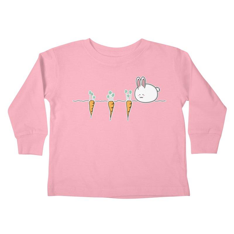 Cute Kawaii Rabbit and Carrots Kids Toddler Longsleeve T-Shirt by Flaming Imp's Artist Shop