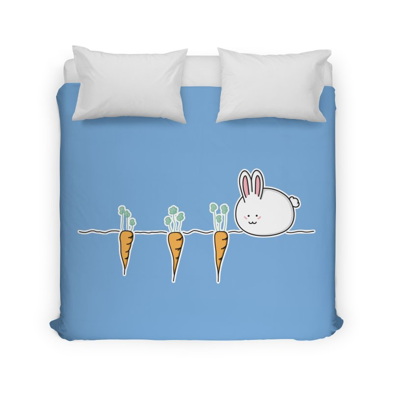 Cute Kawaii Rabbit and Carrots Home Duvet by Flaming Imp's Artist Shop