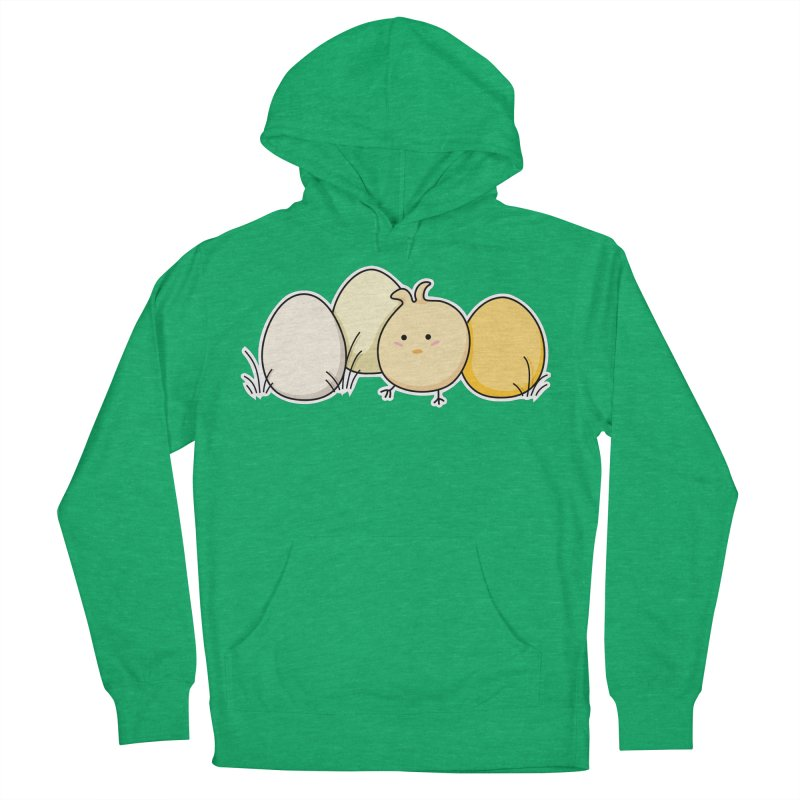 Cute Kawaii Easter Chick and Eggs Men's Pullover Hoody by Flaming Imp's Artist Shop