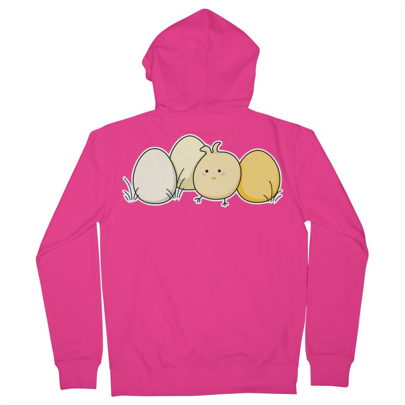 Cute Kawaii Easter Chick and Eggs Men's Zip-Up Hoody by Flaming Imp's Artist Shop
